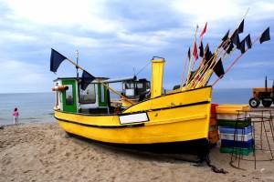 Łódź rybacka nad morzem